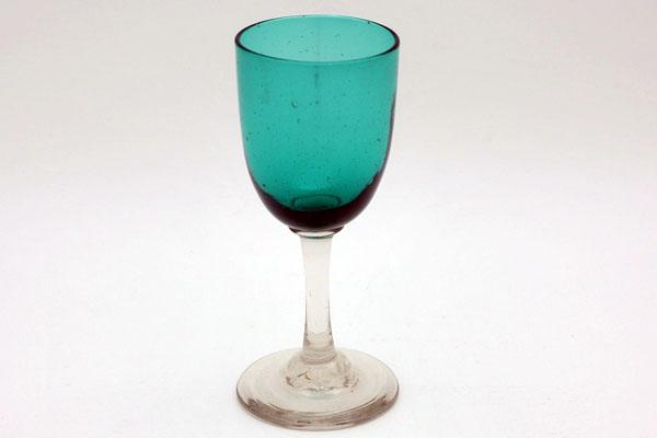 アンティーク ガラス グリーン・ブルー系 グラス(グリーン)