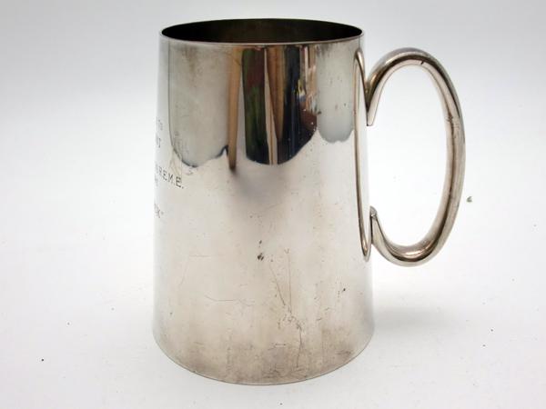 アンティーク その他 銀・銅製品ほか シルバープレート ビアマグ 1954年