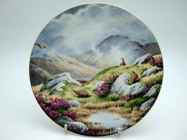 ロイヤルドルトン(Royal Doulton) 飾り皿 Elizabeth Gray Moorland Mist 飾り用プレート