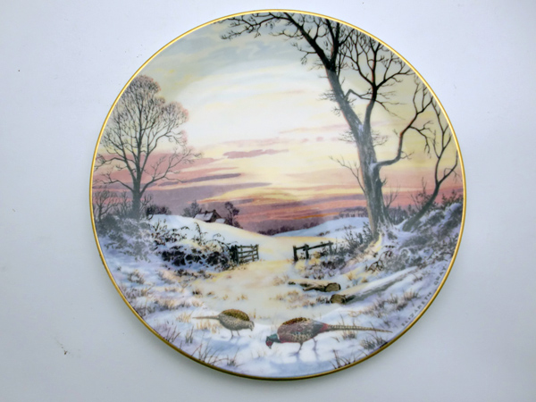 ロイヤルドルトン(Royal Doulton) 飾り皿 Elizabeth Gray Evening Glow 飾り用プレート