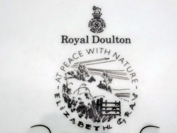 アンティーク 陶磁器 飾り用プレート ロイヤルドルトン(Royal Doulton) 飾り皿 Elizabeth Gray