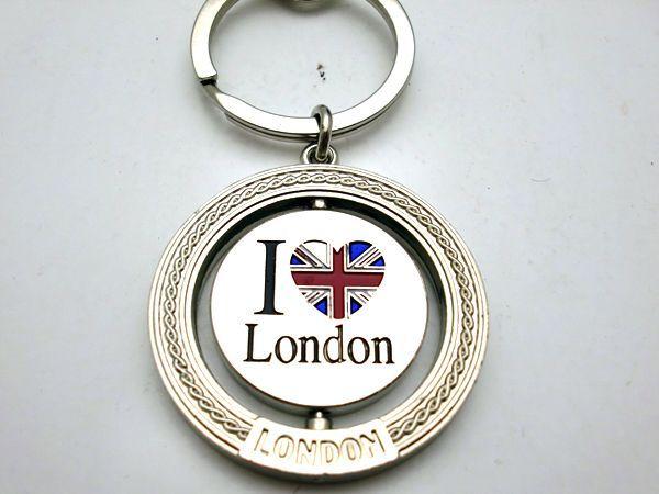 雑貨(ホビー) オモチャ キーホルダー I LOVE LONDONのコイン入り