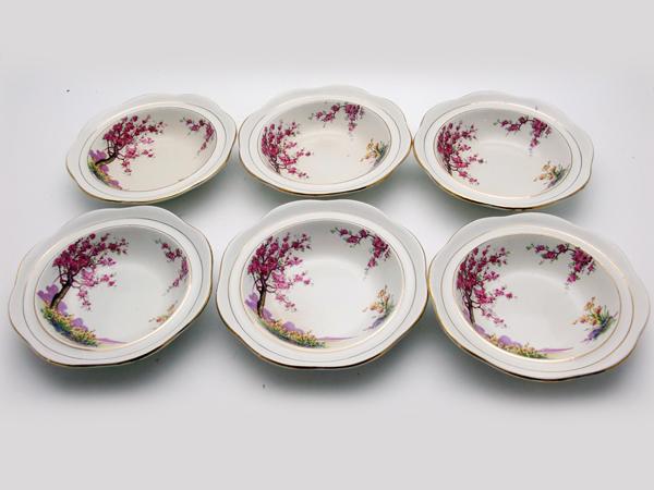 アンティーク 陶磁器 食器 カップ&ソーサー他 フルーツボウル 6枚セット