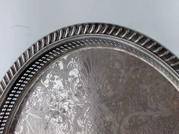 アンティーク その他 銀・銅製品ほか シルバープレート トレー