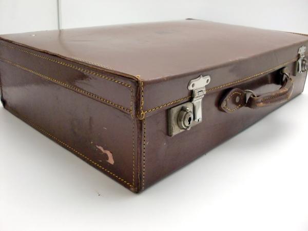 雑貨(道具・ガジェット) トランク/ピクニック トランクケース(レザー、ブラウン)