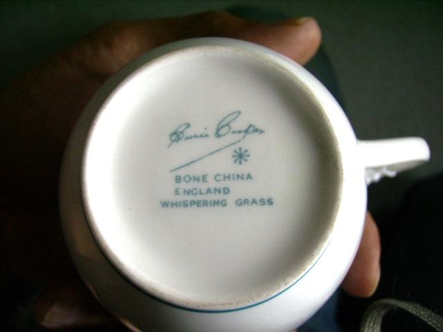 スージークーパー(Susie Cooper) ウィスパーリング・グラス (Whispering Grass) カップ&ソーサー アンティーク 陶磁器 スージークーパー