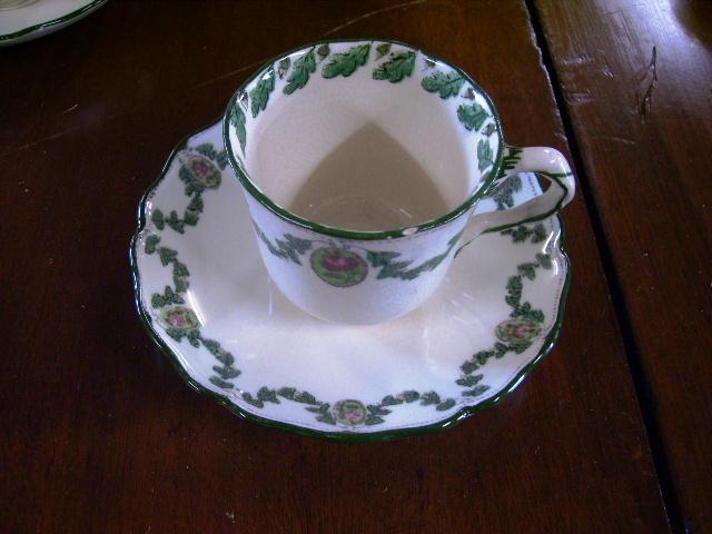 アンティーク 陶磁器 食器 カップ&ソーサー他 ドルトン デミ カップ&ソーサー 6客セット