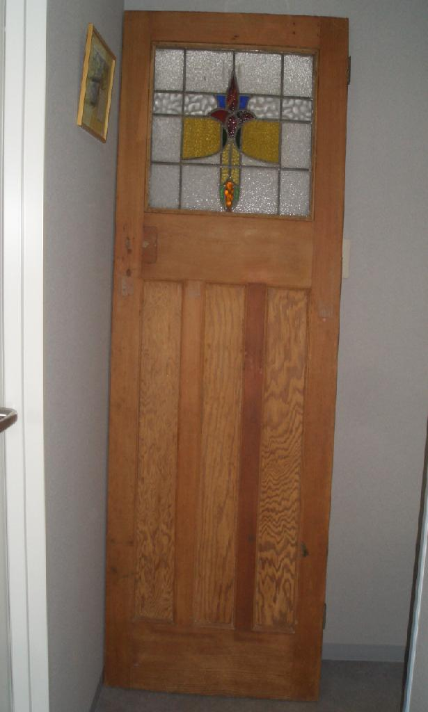 アンティーク 建材 ドア ステンド パインドア