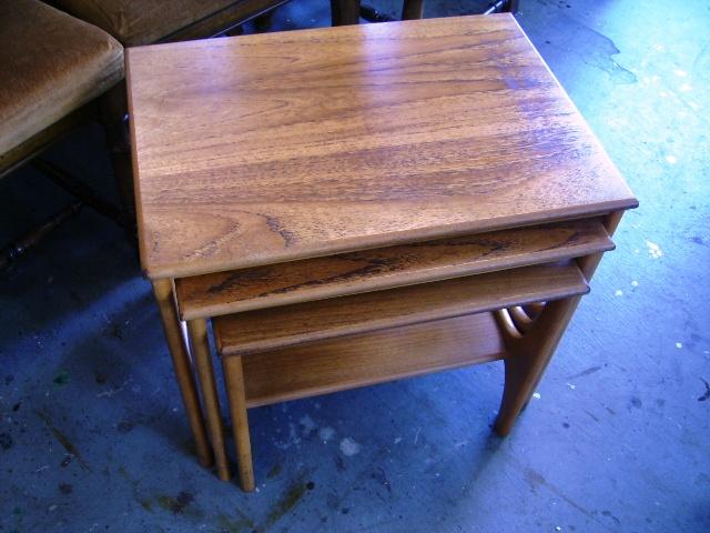アンティーク 家具 テーブル・ダイニングセット ミッドセンチュリー ネストテーブル
