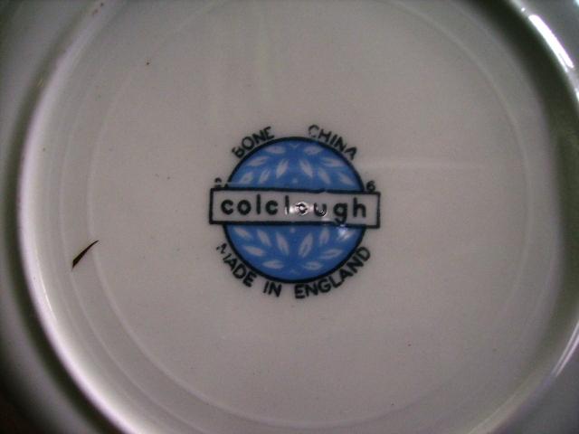 アンティーク 陶磁器 食器 カップ&ソーサー他 コルクラフColclough トリオ6客+シュガーボール+ミルクジャー+ソーサー