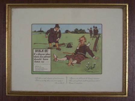 絵 (Rules of Golf IV) 雑貨(ホビー) 絵・額入り品