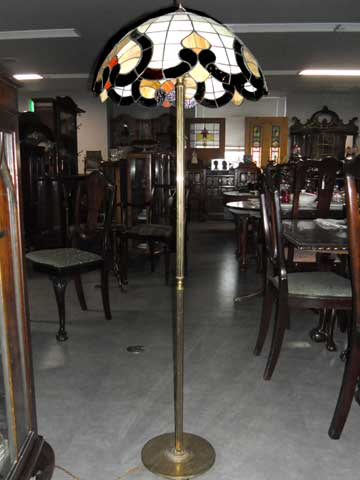 アンティーク 照明 ランプ(すでに組み合わせられている照明) トール ランプ・スタンド (NO.519シェード付き)