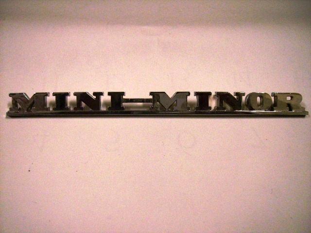 バッジ (リア) Mini Minor 純正 未使用 英国車・MINIのレアパーツ エンブレム類(Emblem)
