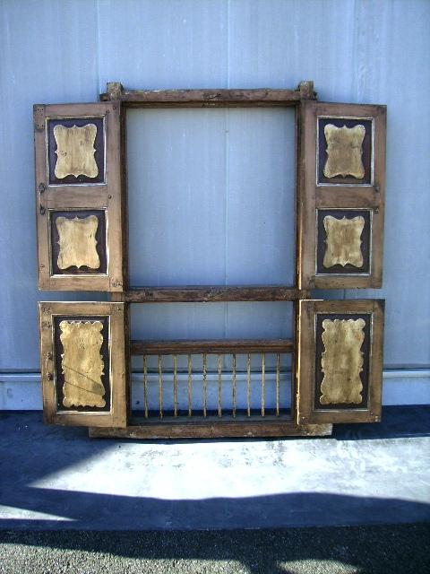 アンティーク 建材 ドア ウィンドウ 長方形