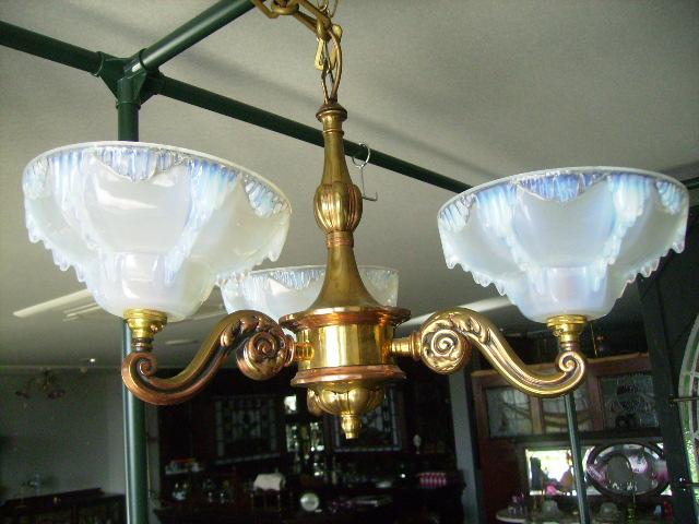 アンティーク 照明 シャンデリア・ハンギングランプ 3灯 シャンデリア 3315シェード付き セット