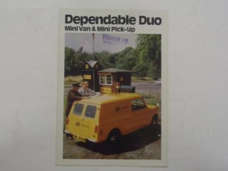 カタログ 1974y' Mini Van & Pick-up オリジナル 当時物 オートモビリア 印刷物 カタログ