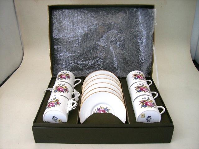 コーヒ・カップ セット ロイヤル・ウスター 未使用,アンティーク 陶磁器,食器 カップ&ソーサー他