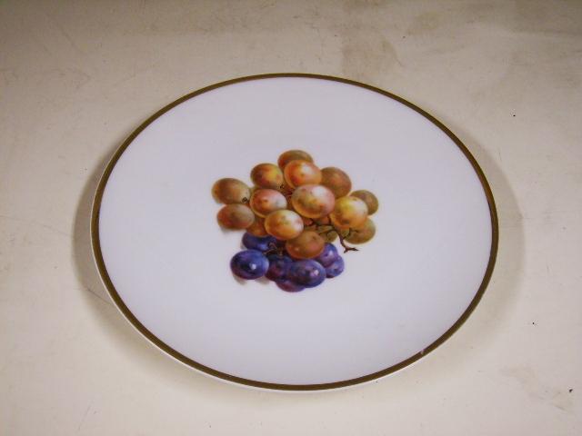 アンティーク 陶磁器 飾り用プレート プレート BAVARIA ブドウ