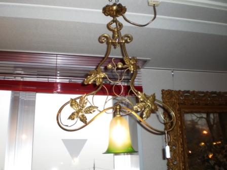 シーリング・ランプ 真鍮 (No.348-SHD-34) Assy,アンティーク 照明,シャンデリア・ハンギングランプ