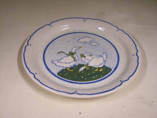アンティーク 陶磁器 飾り用プレート プレート ダッグ