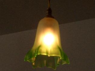 シェード グリーン・サテン,アンティーク 照明,シェード