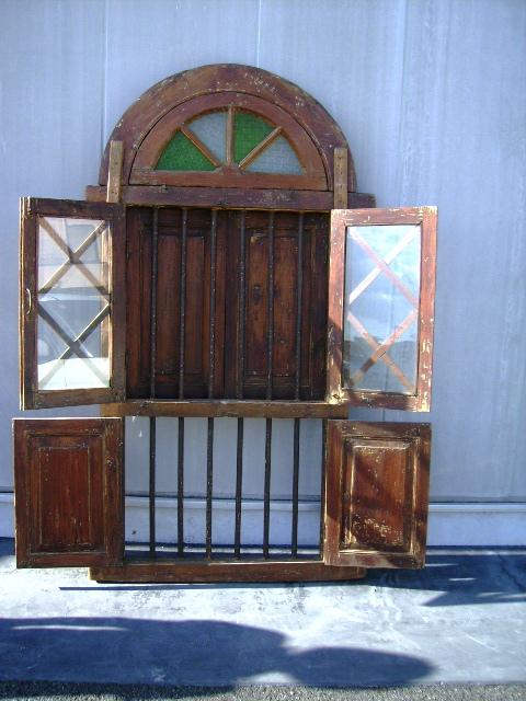 アンティーク 建材 ドア ウィンドウ ステンド入り