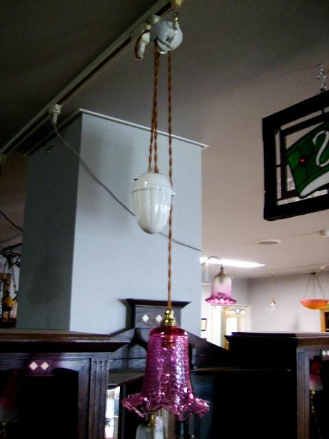 滑車付き ランプブラケット,アンティーク 照明,ランプ用ブラケット(テーブル・ウォール用等)
