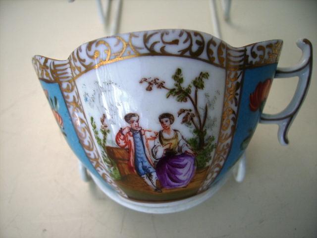 アンティーク 陶磁器 マイセン・ドレスデン コレクション カップ&ソーサー ドレスデン