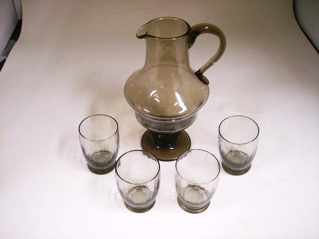 雑貨(キッチン) テーブル&キッチンウェア ドーム 水差し&4脚セット