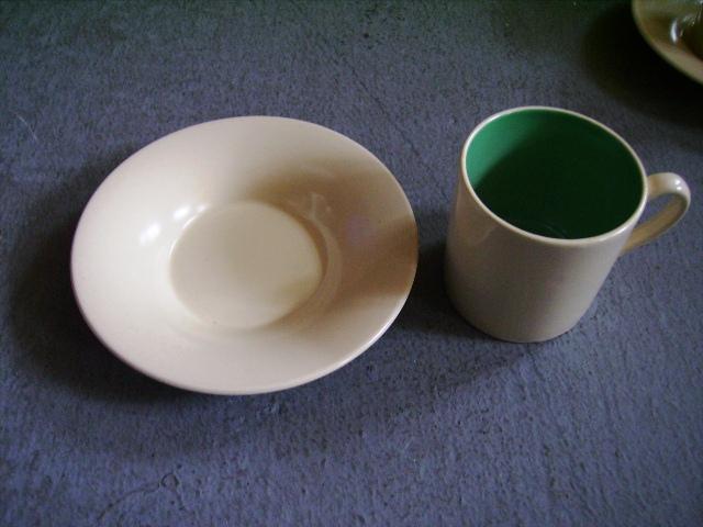 アンティーク 陶磁器 スージー クーパー スージークーパー(Susie Cooper) ツートン カップ&ソーサー4客セット