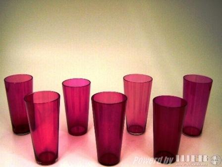 アンティーク ガラス 赤系 クランベリー・ルービーなど クランベリー グラス 1個 10500円