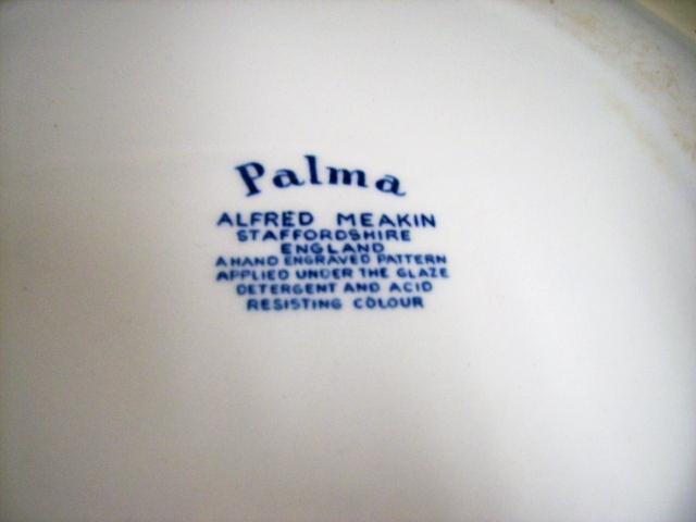 雑貨(キッチン) 雑貨陶器 プレート ALFRED MEAKIN palma