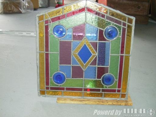 ステンドグラス パネル ペア(2枚) アンティーク 建材 ステンドグラス