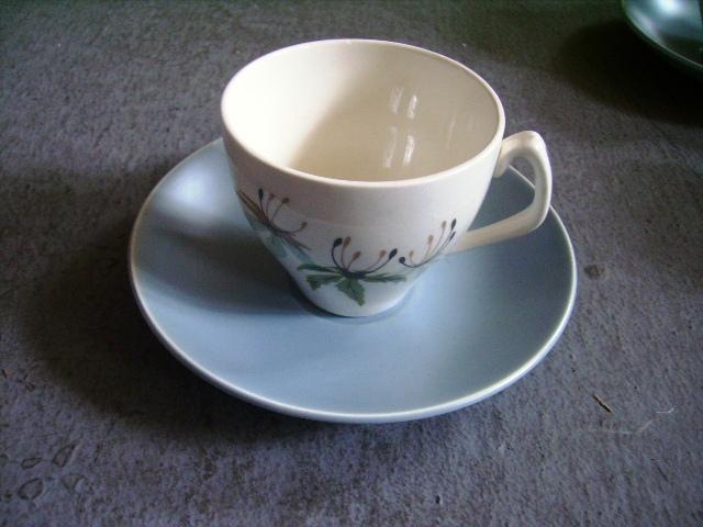 アンティーク 陶磁器 食器 カップ&ソーサー他 スタッフォード カップ&ソーサー+シュガーボール+ミルクジャー+ポット