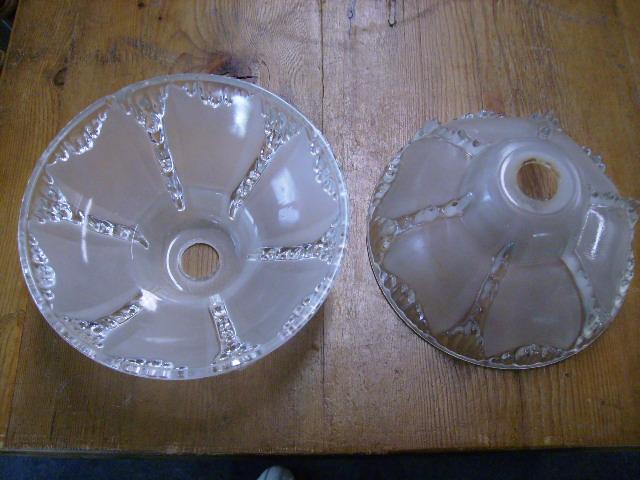 アンティーク 照明 シェード シェード クリア デコ期 2個セット