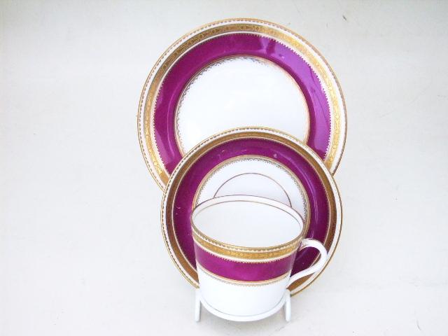 アンティーク 陶磁器 食器 カップ&ソーサー他 ティー・セット ルビー