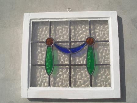ステンドグラス 小 アンティーク 建材 ステンドグラス