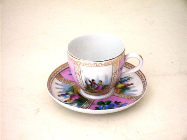 アンティーク 陶磁器 食器 カップ&ソーサー他 C&S ペアー ピンク ヴィクトリア