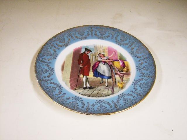アンティーク 陶磁器 飾り用プレート プレート