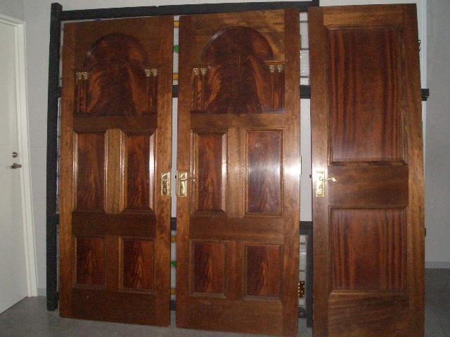 アンティーク 建材 ドア ドア マホガニー 3枚セット