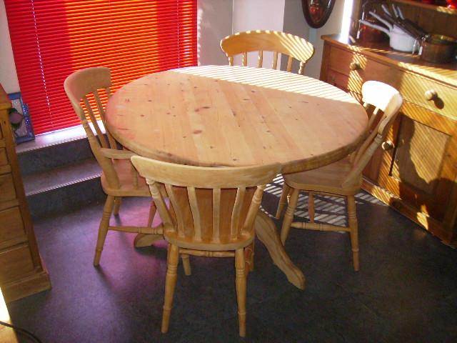 パイン テーブル+4脚イス セット,アンティーク 家具,テーブル・ダイニングセット