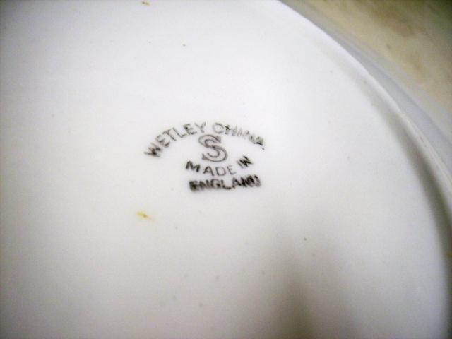 雑貨(キッチン) 雑貨陶器 プレート(WETLEY社) 2枚セット