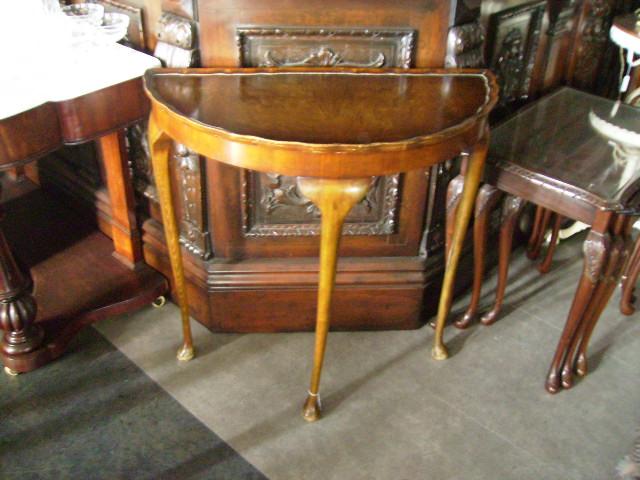 ハーフムーン テーブル,アンティーク 家具,テーブル・ダイニングセット