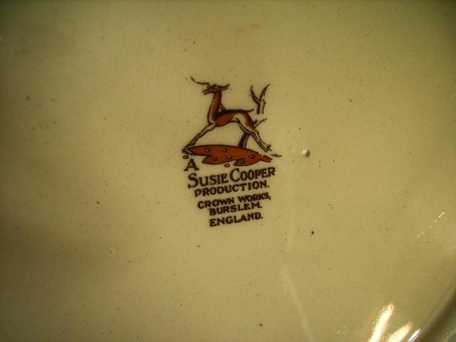 スージークーパー(Susie Cooper) シーアネモネ (Sea Anemonei) ディーナーセット アンティーク 陶磁器 スージークーパー