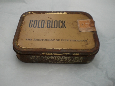 雑貨(ホビー) ティン(缶) GOLD BLOCK THE ARISTOCRAT OF PIPE TOBACCOS