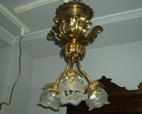 アンティーク 照明 シャンデリア・ハンギングランプ シーリングランプ Assy 3灯付き