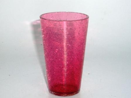 アンティーク ガラス 赤系 クランベリー・ルービーなど グラス クランベリー クラックド 563/564/565