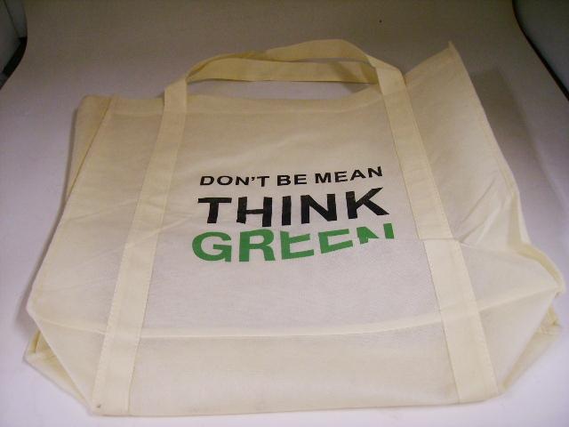 雑貨(キッチン) エコバッグ エコバッグ THINK GREEN ホワイト