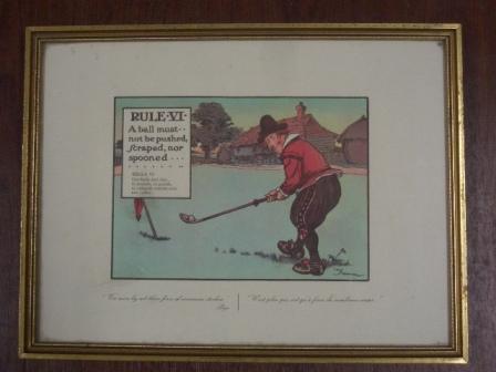 絵 (Rules of Golf VI) 雑貨(ホビー) 絵・額入り品