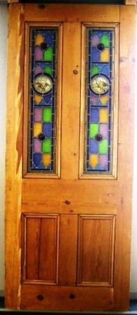 アンティーク 建材 ドア ステンドグラス ドア